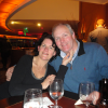 Husband and I at dinner in New York
