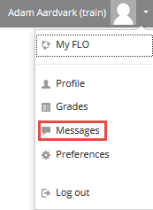 user options - Messages