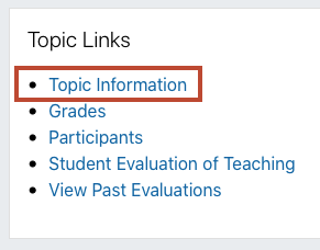 topic information