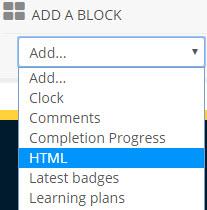 add an html block