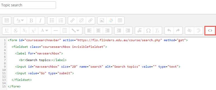 type in HTML code