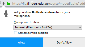 The permission window on Firefox, at March 2019