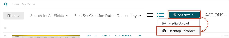 Add new select Desktop Recorder