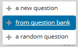 add questions from question bank