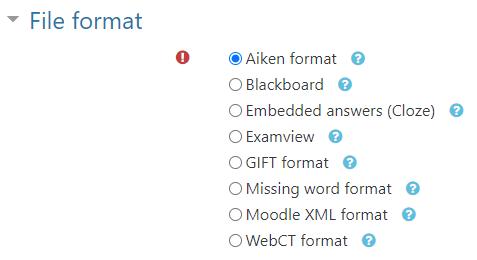 Aiken format