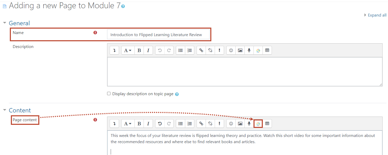 Add media button for page resource