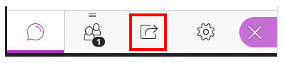 The share button is highlighted with a red border.