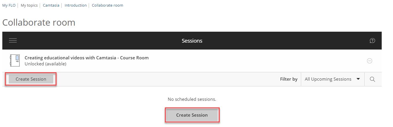 create session button