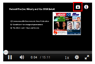 The download button is in the top right corner of the video and is marked by a red square in this image