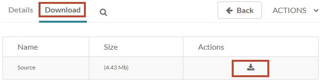 Kaltura - download icon