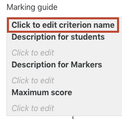 edit criterion name