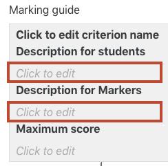 description for students