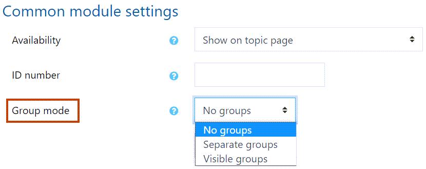 Group mode setting