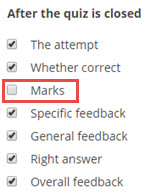 unticked for marks