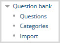 In the question block, select categories