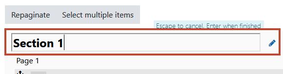 add a module heading (first one)