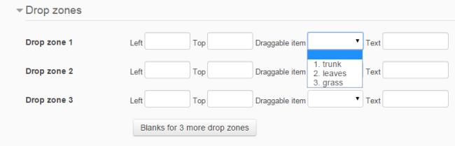 drop zones populated