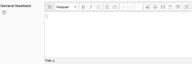 general feedback text box