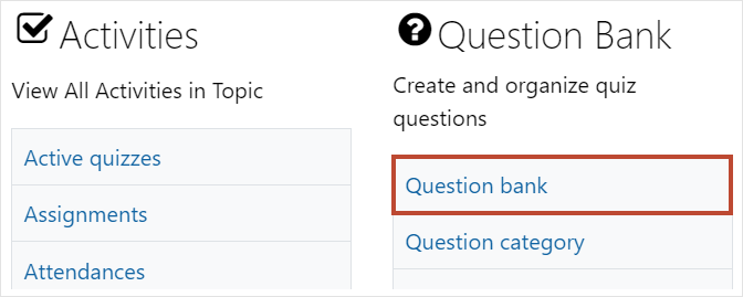 Question bank link