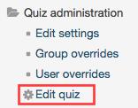 edit quiz button