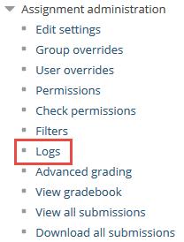 Assignment logs