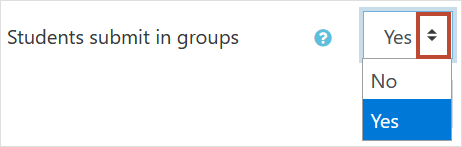 Students submit in groups setting