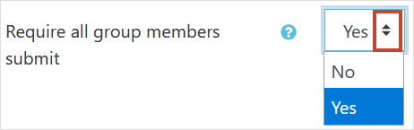 Require all group members submit setting