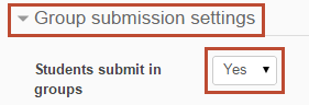 students submit in groups