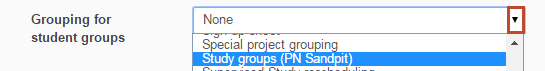grouping for student groups
