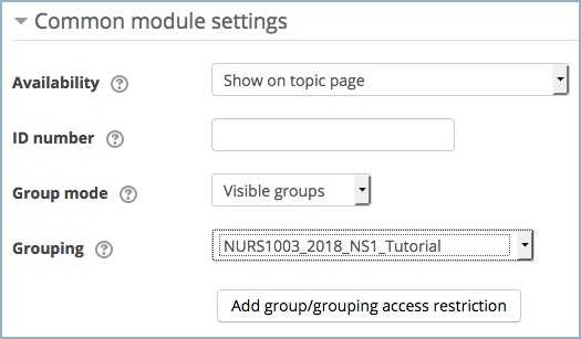 Attendance common module settings