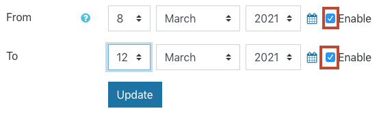 click to enable dates