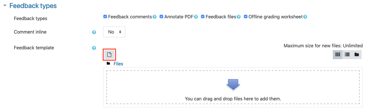 assignment - feedback template dropbox
