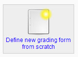 define new grading form