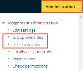 group and user overrides