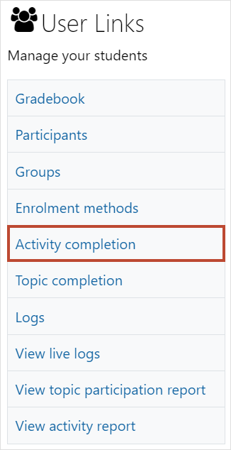 Activity completion