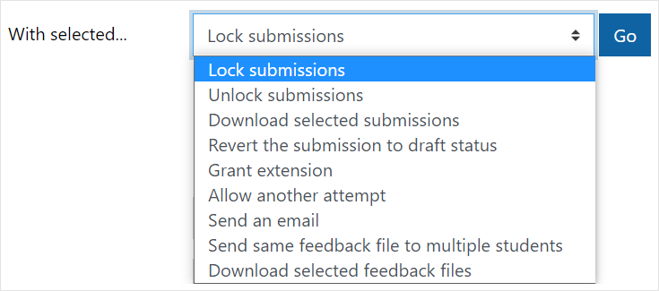 Lock submissions
