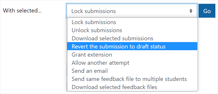 Revert the submission to draft status