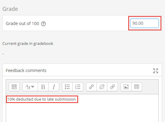 grade feedback