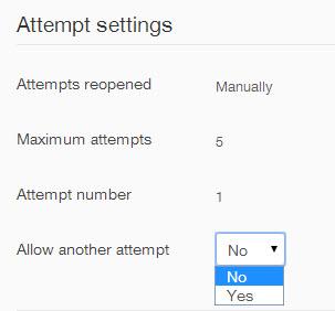 attempt settings
