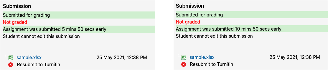 Assignment submission examples