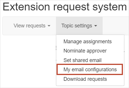 My email configurations
