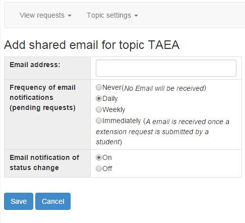 add shared email