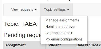 topic settings