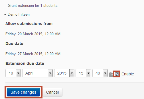 grant extensions - enable with dates