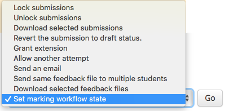 marking workflow filter