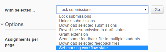 marking workflow filter