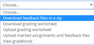 download feedback files in a zip