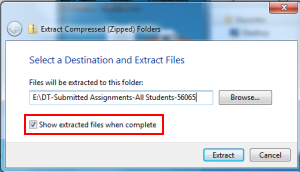 extract files - path