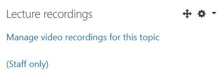 Lecture recordings block