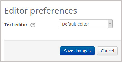 editor preferences